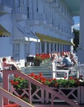 Guest enjoying a sunny day at the Grand Hotel, Mackinaw Island