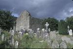 Graves stones at Glendalough monastic ruins