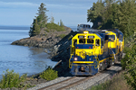 Alaska Railroad train making its way southbound toward Seward Alaska
