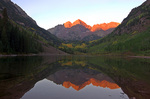 The Maroon Bells in then fall, Colorado