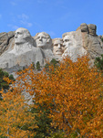 The Presidents at Mount Rushmore in the fall, South Dekota