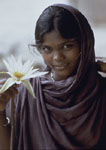 Young Woman with Lotus, India