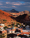 Overview of copper mining town of Bisbee, Arizona