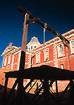 Hanging gallows at the Tombstone Courthouse State Historical Park, Tombstone, Arizona