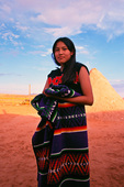Valerie Singer, young Navajo girl, at 'Evening With the Navajo' performance, Page, Arizona