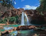Summer at Havasu Falls, Havasupai Reservation, Grand Canyon, Arizona