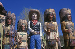 Wooden Cowboy and Indians, Wickenburg, Arizona