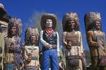 Wooden Cowboy and Indians, Wickenburg, Arizona