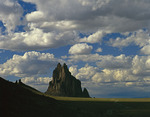 Shiprock, summer sky, Navajo reservation, northwestern New Mexico
