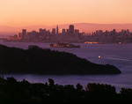 The morning ferry from Larkspur to San Francisco goes past Alcatraz Island, San Francisco Bay, California