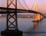 The San Francisco-Oakland Bay Bridge in early morning light, from Yerba Buena Island, San Francisco, California