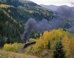 The Cumbres and Toltec Scenic Railroad, en route from Chama, New Mexico to Antonito, Colorado