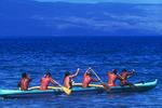 Rowing off Lahaina, Maui, Hawaii