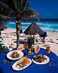 Seafood at the beach, Ritz Carlton Hotel, Cancun, Mexico