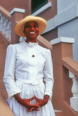 Nahlijah Williams in historical dress, St. George, Bermuda