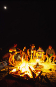 Campfire songs and stories beside the Green River, Desolation Wilderness, Utah