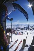 Start gate at Olympic Downhill run, Snowbasin Ski Resort, Utah