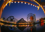 Night falls over Disney's California Adventure, Anaheim, California