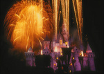Fireworks over the Magic Kingdom of Disneyland, Anaheim, California