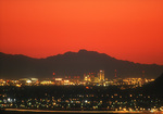Downtown skyline with Chase Field, at twilight, Phoenix, Arizona