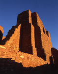 morning light on the church of Quarai, Salinas Pueblo Missions National Monument, Mountainaire, New Mexico