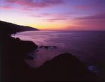 pre-dawn glow over Big Sur coast, California