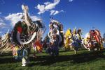 Powwow entry dance, Cody, Wyoming