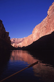 Rowing the Colorado River in Marble Canyon, Grand Canyon National Park, Arizona