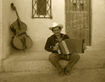 Street musician, Magdalena, Sonora, Mexico