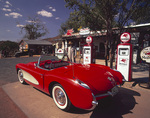 1957 Corvette parked at Old Route 66 roadside store, Hackberry, Arizona