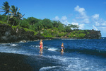 the black sand beach at Wainapanapa State Park, Hana, Maui, Hawaii