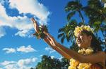 Hula dancer, Waikiki, Honolulu, Oahu, Hawaii