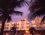 South Beach hotels at sunrise, Miami, Florida