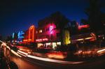 Night action on Ocean Drive, South Beach, Miami, Florida