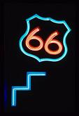 66 Neon sign on Rio Grande Bridge, Old Route 66, Albuquerque, New Mexico