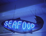 Vintage neon sign, in Sanford and Son antique store, Tacoma, Washington