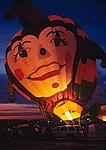 Balloon Glow at twilight, International Balloon Fiesta, Albuquerque, New Mexico