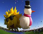 Fancy shape balloons, International Balloon Fiesta, Albuquerque, New Mexico