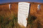 Headstones set where soldiers of the Seventh Cavalry fell, Little Bighorn Battlefield, Montana