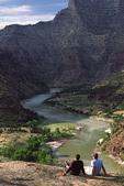 View over the Green River, at Three Canyon, Utah