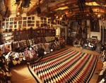 1940's 'Eye Dazzler' Navajo rug, for sale at Hubbell Trading Post National Historic Site, Ganado, Arizona
