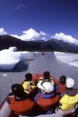 Rafting below Spencer Glacier, Alaska