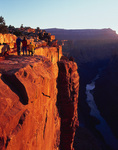 Photographing sunrise at Toroweap, Grand Canyon National Park, Arizona