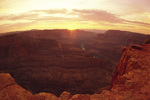 Sunset over Grand Canyon West, from Guano Point, Hualapai Reservation, Arizona