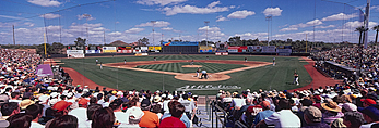 Spring training baseball at Phoenix Municipal Stadium, Phoenix, Arizona