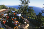 Dining in the afternoon at Nepenthe Restaurant, Big Sur, California