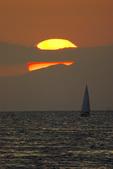 Sailing at sunset off Oxnard, California
