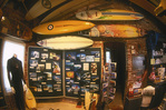 Displays inside the Surf Museum, Santa Cruz, California
