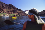 Kayaking the Colorado River in Black Canyon, from Hoover Dam, Lake Mead NRA, Arizona