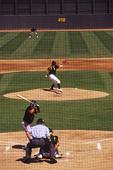 Spring training baseball at Phoenix Municipal Stadium, Phoenix, Arizona